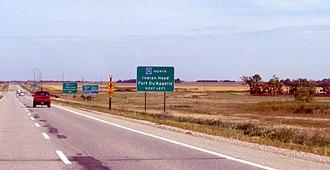 Saskatchewan Highway 1 - Sk Hwy 1 near Indian Head/Fort Qu'Appelle at Sk Hwy 56