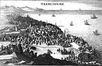 Siege of Trebizond (1461) - Trebizond with the Black Sea on the right