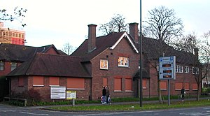 Hall house - Tree House, Crawley, no longer recognizable as a 15th-century building