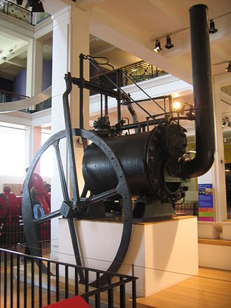 Flued boiler - Trevithick's engine of 1806 is built around an early example of a flued boiler (specifically, a return-flue type)