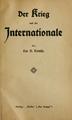 Trotsky - Der Krieg und die Internationale (cover, 1914).png