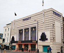 The exterior of Troxy, London