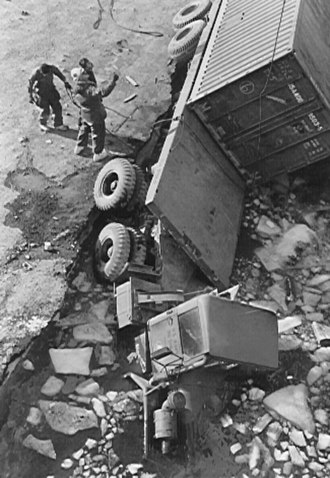 Ice pier - Cargo operations at McMurdo's ice pier in February 1983 involved a race against time before the breakup of the entire dock.