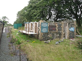 Tryfan Junction railway station - The station building under repair in 2011