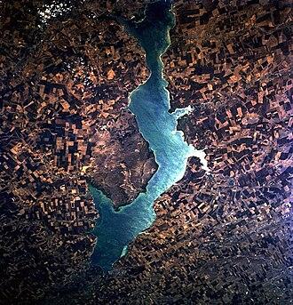 Tsimlyansk Reservoir - from space, October 1994