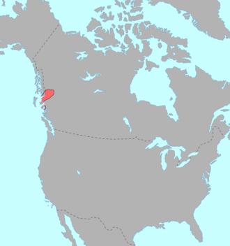 Coast Tsimshian dialect - Image: Tsimshianic langs