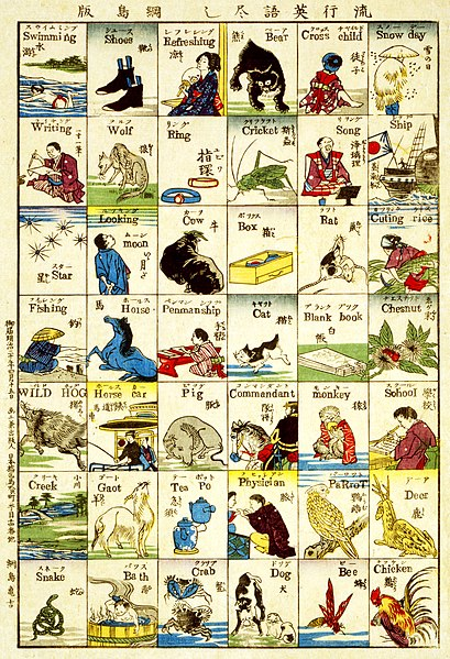 File:Tsunajima Kamekichi, Fashionable melange of English words, 1887.jpg