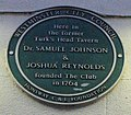 Turk's Head Tavern plaque 1764 London.jpg