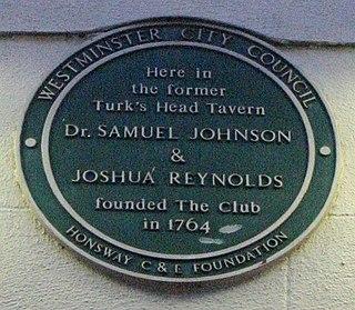 The Club (dining club) London dining club founded in 1764 by Joshua Reynolds, Samuel Johnson, and Edmund Burke