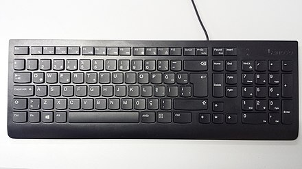 A Turkish computer keyboard with Q (QWERTY) layout. Turkish Q computer keyboard.jpg