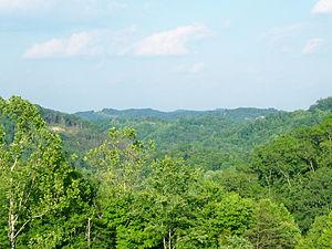 Mountain top view of Tutor Key, Kentucky.