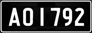 Vehicle registration plates of Tuvalu Tuvalu vehicle license plates