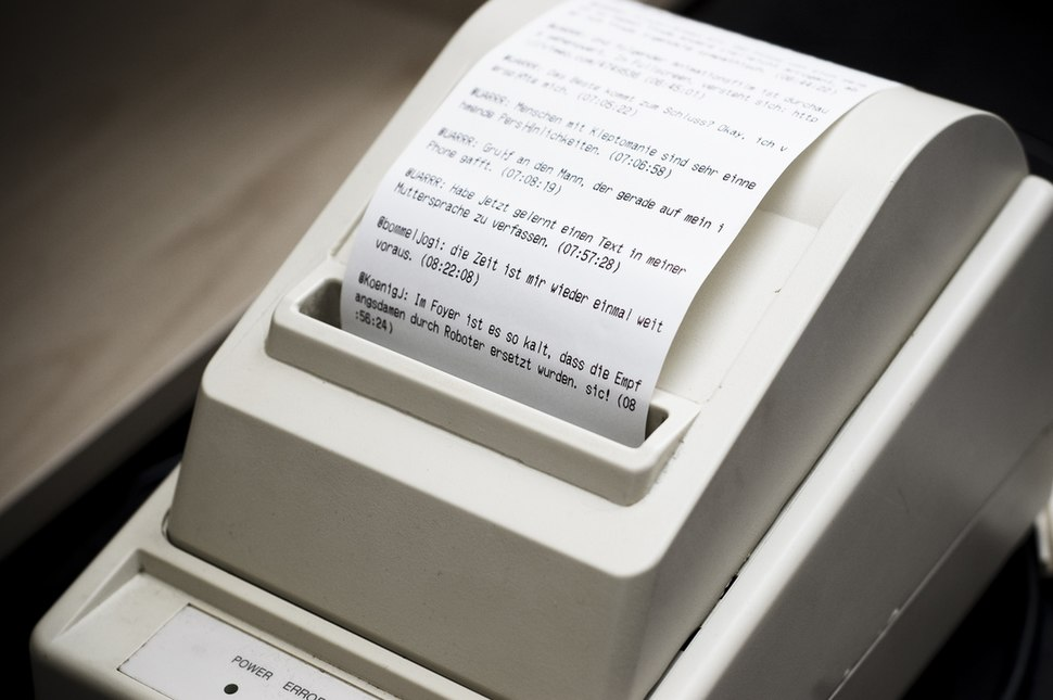 Twitter receipt printer