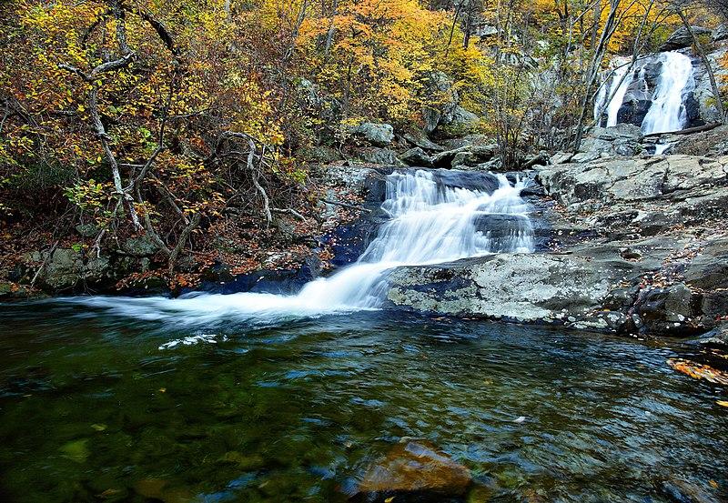 File:Two-autumn-waterfalls - Virginia - ForestWander.jpg