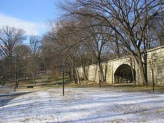 Tyler Park, Louisville - Tyler Park Bridge in winter