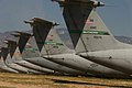 U.S. Air Force Lockheed C-141 Starlifter Tail Line Up (8391089019).jpg