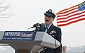 U.S. Coast Guard Petty Officer 1st Class Kristine Rommel, with the Coast Guard Reserve, sings the national anthem during a ceremony commemorating the 71st anniversary of the attack on Pearl Harbor at 121207-A-BW524-100.jpg