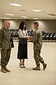 U.S. Marine Corps Col. Jeffrey T. Connor, Comanding Officer, School of Infantry-East (SOI-E) presents a Certificate of Appreciation Award to Mrs 131220-M-AX605-204.jpg