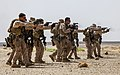 U.S. Marines with the 26th Marine Expeditionary Unit's maritime raid force fire M1911 .45-caliber pistols at a range in Jordan June 9, 2013, during Eager Lion 2013 130609-M-SO289-002.jpg
