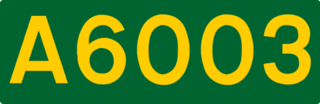 A6003 road road in England