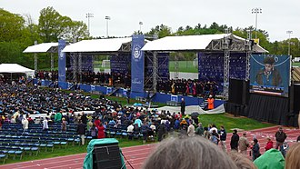 Commencement speech - The University of New Hampshire commencement, at which George H. W. Bush and Bill Clinton spoke