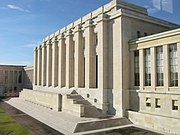 The League of Nations' Assembly building in Geneva