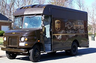 Fleet vehicle - A delivery truck that is part of the United Parcel Service fleet