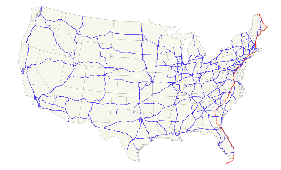 Us Route 1 Howling Pixel - Map-of-us-route-1
