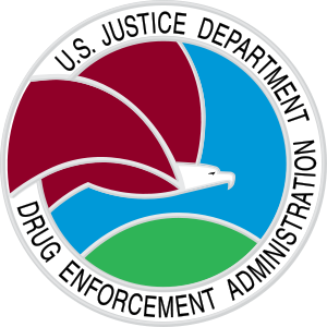 The seal of the United States Drug Enforcement...