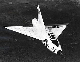 Convair XF-92 - Convair XF-92A in flight with bare metal scheme