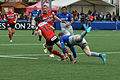 USO - Saracens - 20151213 - Quentin Etienne Lecoq evading a tackle by Chris Ashton.jpg