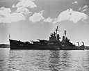 USS Baltimore (CA-68) anchored in Guantanamo Bay on 22 September 1954 (NH 52422).jpg