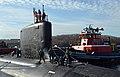 USS California pulls pierside at Naval Submarine Base New London Groton Conn. (6673266541).jpg