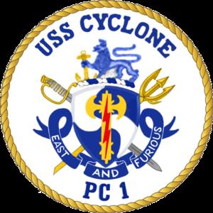 USS Cyclone - Image: USS Cyclone PC 13 COA