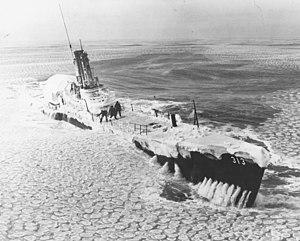USS Perch (SS-313) - Perch (APSS-313), polar icecap, 1952–53.