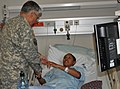 US Army 51633 Sgt. 1st Class Cassandra Y. Snow meets Chief of Staff of the Army Gen. George W. Casey Jr.jpg