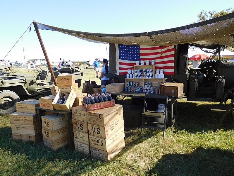 File:US Army rations, drinks and tin cans.jpg