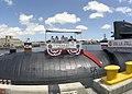 US Navy 030807-N-7833F-019 Rear Adm. John B. Padgett III, Commander, Submarine Forces U.S. Pacific Fleet (COMSUBPAC), Rear Adm. Paul F. Sullivan, and Adm. Walter F. Doran, Commander, U.S. Pacific Fleet, bow their heads during t.jpg