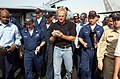 US Navy 041011-N-4565G-009 Professional golfer Greg Norman signs autographs for Sailors as he visits the conventionally powered aircraft carrier USS John F. Kennedy (CV 67).jpg