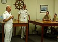 US Navy 050718-N-3342W-001 Commander, Naval Surface Force, U.S. Pacific Fleet, Vice Adm. Terry Etnyre addresses the staff and students at the Naval Reserve Officer Training Corps (ROTC) at the University of Michigan.jpg