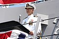 US Navy 050730-N-3672K-353 USS Halsey (DDG 96) Commanding Officer, Capt. James L. Autrey, addresses guests and crew members as the Navy's newest Arleigh Burke-class destroyer is commissioned.jpg