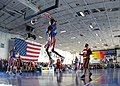 US Navy 051208-N-4154B-011 The world famous Harlem Globetrotters plays an exhibition game against the New York Nationals aboard the Nimitz-class aircraft carrier USS Theodore Roosevelt (CVN 71) during a recent visit.jpg
