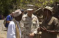 US Navy 060519-N-0411D-012 The Sultan of Tadjoura, left, Abdoulaker Moumat Houmed hosted Rear Admiral Richard W. Hunt at his home near Tadjoura for a ceremonila exchnage of gifts.jpg