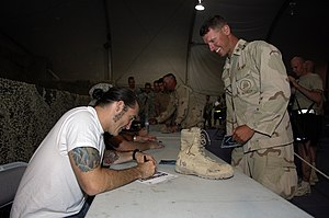 Clint Lowery - Clint Lowery at Bagram Air Field, Afghanistan