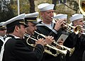 US Navy 081103-N-1655H-003 Musician 2nd Class John Gulyas plays along with members of the Romanian Naval Academy Band.jpg