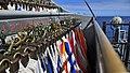 US Navy 100318-N-4774B-061 Signal flags are arranged on the port bridge wing aboard USS Bunker Hill (CG 52).jpg