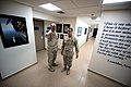 US Navy 100513-N-6463B-032 Capt. Vincent Martinez escorts Rear Adm. Michael P. Tillotson during a tour of spaces and to greet Sailors at Naval Support Activity Bahrain.jpg