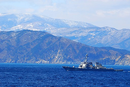 US Navy 110318-N-GL340-128 The guided-missile destroyer USS Curtis Wilber (DDG 54) is underway off the coast of Japan providing humanitarian assist