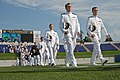 US Navy 110527-N-OA833-002 Midshipmen proceed to their seats before the U.S. Naval Academy Class of 2011 graduation and commissioning ceremony.jpg