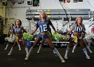 Sea Gals - Image: US Navy 120213 N KD852 106 The Seattle Seahawks cheerleaders, the Sea Gals, perform for Sailors and Marines aboard the amphibious assault ship USS